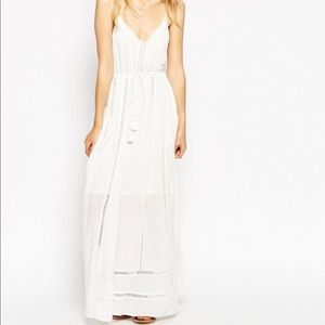Asos White White Tassle Maxi Dress